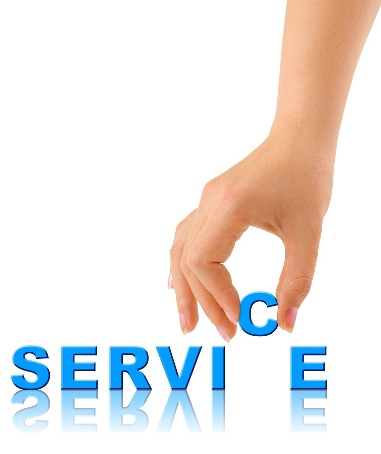 bigstockphoto Hand And Word Service 7273660